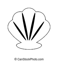 shell icon image - shell icon over white background. vector...