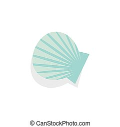 Shell. Icon on isolated background