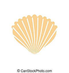 Shell isolated. conch in white background. Production of natural pearls