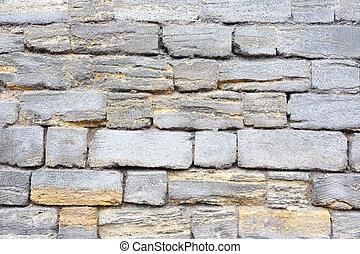 Shell rock wall backkground