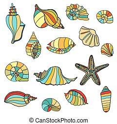 shell seamless background.
