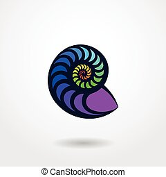 Shell silhouette isolated on white background