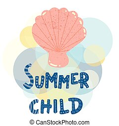 Shell summer child poster