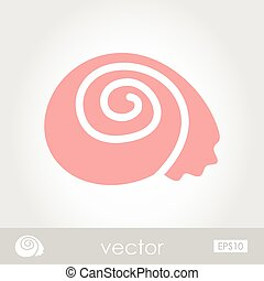 Shell vector icon