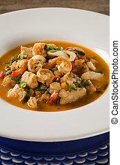 shellfish., seafood., mediterranean., preparado