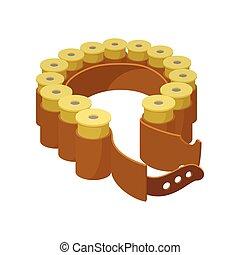 Shells belt cartoon icon
