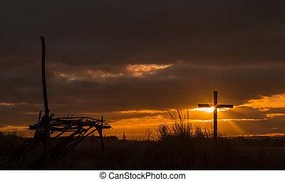 Shelter and Cross Sun Beams
