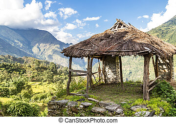 Shelter in the mountain