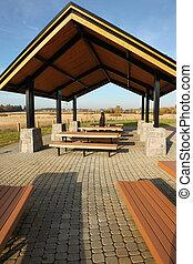 shelter., powierzchnia, piknik, &, rekreacyjny