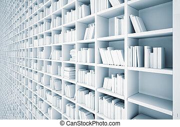 shelves - endless white shelves (illustrated concept)