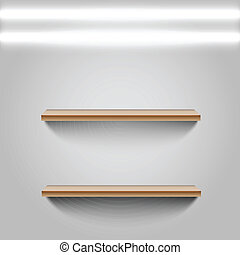 shelves with white background. Vector
