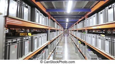 Shelves with boxes - In stock tools racks with boxes