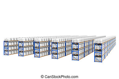 Shelves x 60. Top Perspective view.