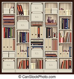shelving - seamless horizontal vector illustration....