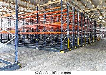 Shelving system - Mobile shelving roller system in...