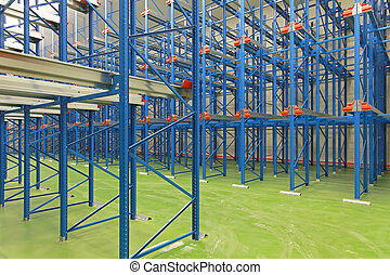 Shelving system warehouse