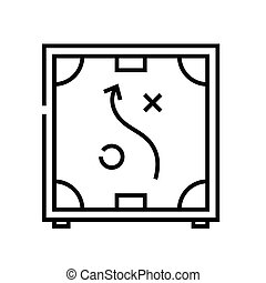 Sheme actions line icon, concept sign, outline vector illustration, linear symbol.