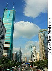 Photo taken at Main avenue shennan road in shenzhen city, china