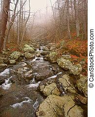Shenandoah National Park Virginia - Robinson River rapids...