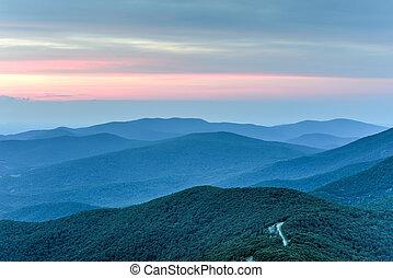 Shenandoah National Park - Virginia - Sunset along the...