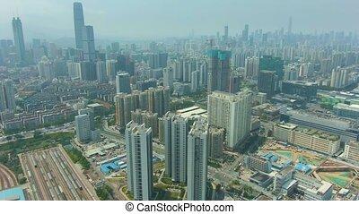 shenzhen city at sunny day residential