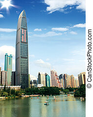 ShenZhen city - The KingKey 100 building is a new landmark...