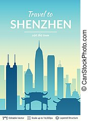 Shenzhen famous China city scape.