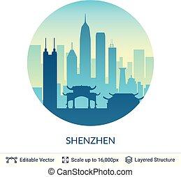 Shenzhen famous China city scape.