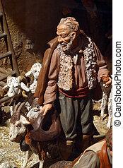 Shepherd in the Nativity Scene