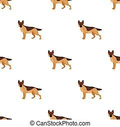 Shepherd single icon in cartoon style. Dog, vector symbol stock illustration web.
