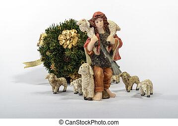 Shepherd with his sheep