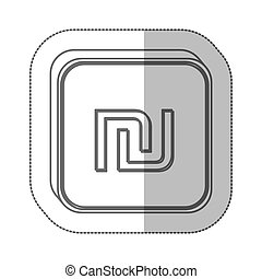sheqel israel currency symbol icon image, vector ...
