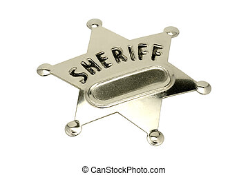 Sheriff Badge - Isolated Sheriff Badge
