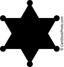 Sheriff badge vector silhouette star