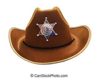 Sheriff cowboy hat with silver star - sheriff cowboy hat ...