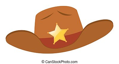 Sheriff hat with star badge