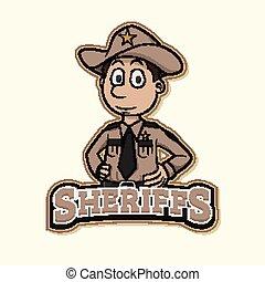 sheriff logo illustration design