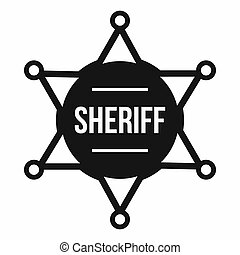 sheriff marke, ikone, einfache , stil
