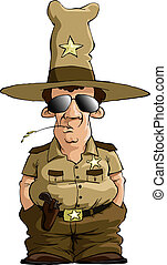 Sheriff on a white background, vector illustration
