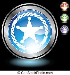 Sheriff Rope Badge Icon chrome
