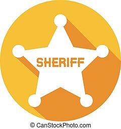 sheriff star flat icon (sheriff badge, sheriff shield)
