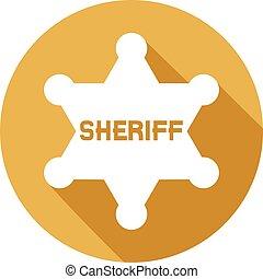 sheriff star flat icon