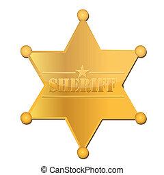 sheriff star - Golden sheriff illustration