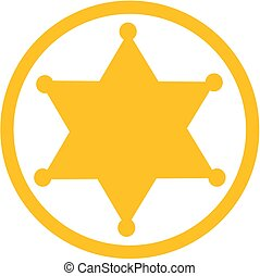An image of a sheriff western star rope circle icon