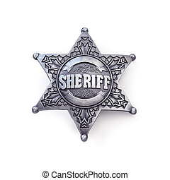sheriff star isolated on white background