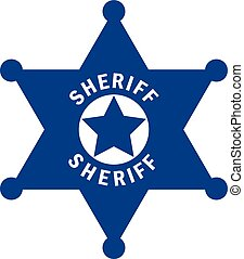 Sheriff star vector pictogram isolated on white background