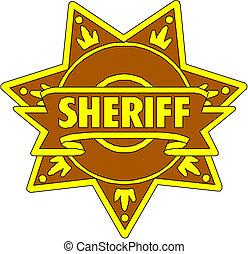 sheriff, stjärna