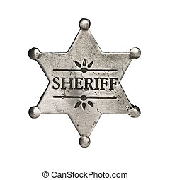 sheriff star isolated on white