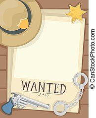 Sheriff Wanted Poster Illustration