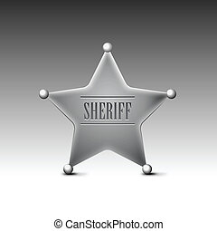 Sheriff's badge on a white background. Eps10